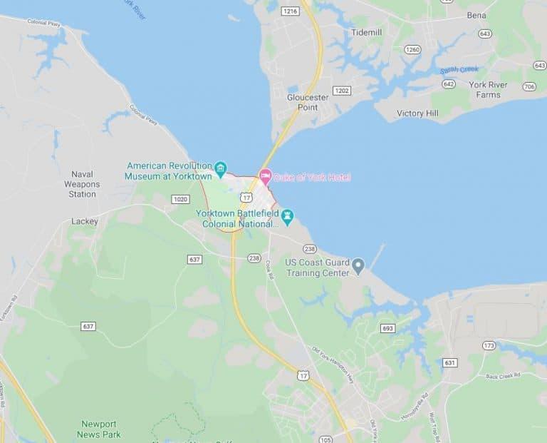 yorktown-virginia-map-williamsburg-chauffeur-service